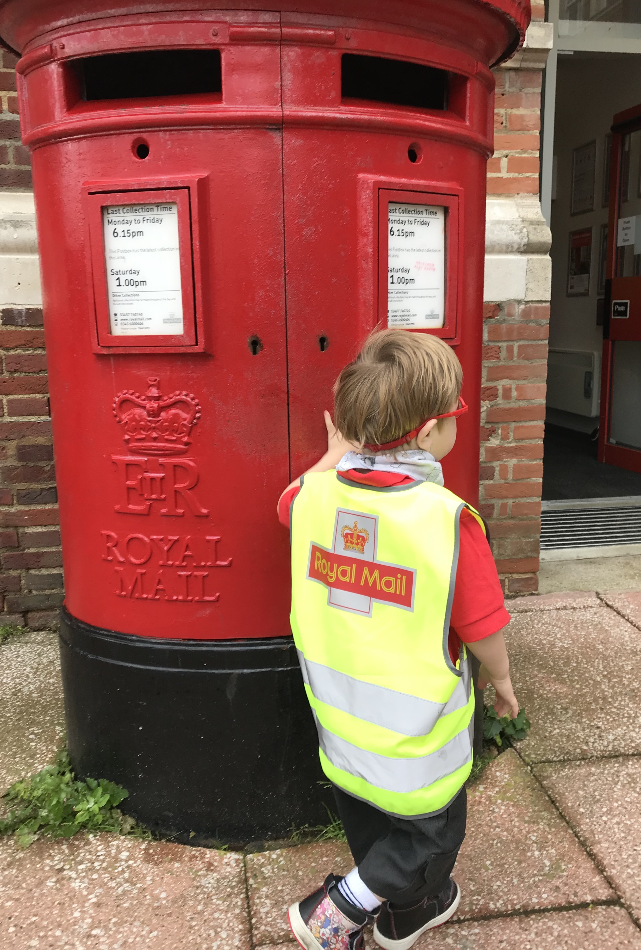 H's favourite postbox
