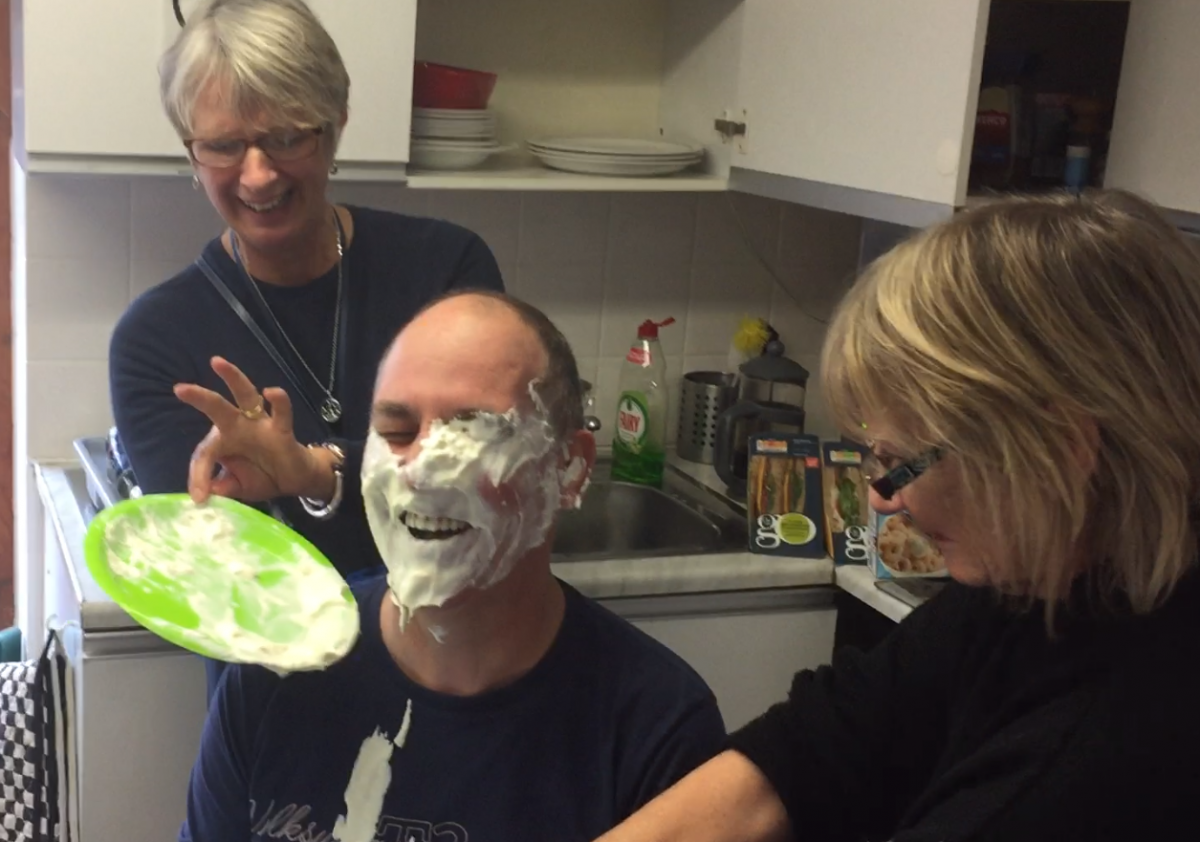 Richard gets pied!